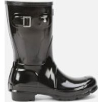 Hunter Womens Original Short Gloss Wellies - Black - UK 8 - Black