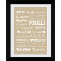 Pasta Types - Collector Print - 30 x 40cm - Pasta Gifts