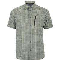 Berghaus Mens Lawrence Short Sleeve Shirt - Green/White Check - S - Green/White