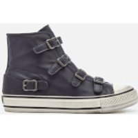 Ash Womens Virgin Leather Hi-Top Trainers - Graphite - UK 5 - Grey