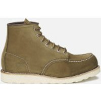 Red Wing Men's 6 Inch Moc Toe Leather Lace Up Boots - Olive Mohave - UK 6/US 7 - Green