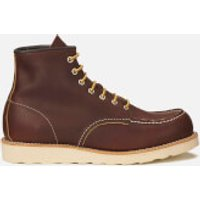 Red Wing Red Wing Men's 6 Inch Moc Toe Leather Lace Up Boots - Briar Oil Slick - UK 7/US 8 - Brown