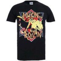 DC Comics Men's Batman Rockin N Rollin T-Shirt - Black - XXL - Black