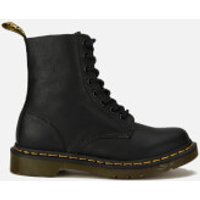 Dr. Martens Womens 1460 Virginia Leather Pascal 8-Eye Boots - Black - UK 6 - Black