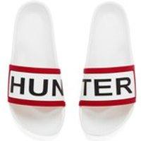 Hunter Women s Slide Sandals   White   UK 5   White