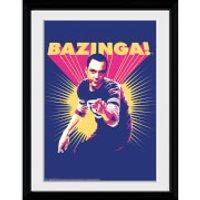 The Big Bang Theory Bazinga - 30x40 Collector Prints - Big Bang Theory Gifts