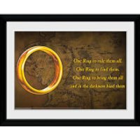Lord of the Rings One Ring - 30x40 Collector Prints - Lord Of The Rings Gifts