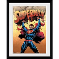DC Comics Superman Strength - 30x40 Collector Prints - Comics Gifts