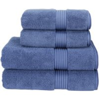 Christy Supreme Hygro Towels - Deep Sea Blue - Bath Sheet (Set of 2) - Blue