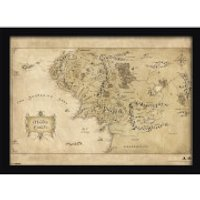 The Hobbit Middle Earth Map Framed Print (30x40) - Hobbit Gifts