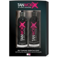 Tanworx Tanning Essential Duo - Dark/Very Dark (Worth PS52.85)