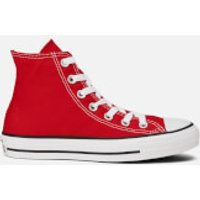 Converse Unisex Chuck Taylor All Star Canvas Hi-Top Trainers - Red - UK 4 - Red