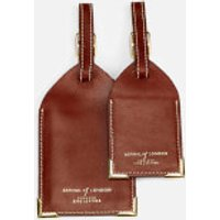 Aspinal of London Mens Luggage Tags - Cognac