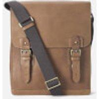 Aspinal of London Mens Small Shadow Messenger Bag - Tan