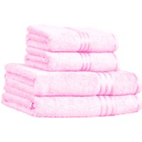 Restmor 100% Egyptian Cotton 4 Piece Supreme Towel Bale Set (500gsm) - Pink