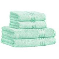 Restmor 100% Egyptian Cotton 4 Piece Supreme Towel Bale Set (500gsm) - Seafoam