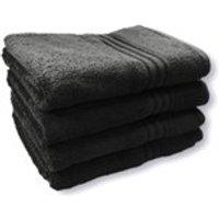 Restmor 100% Egyptian Cotton 4 Pack Bath Sheets (500gsm) - Black