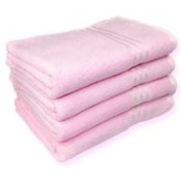 Restmor 100% Egyptian Cotton 4 Pack Bath Sheets (500gsm) - Pink