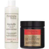 Christophe Robin Regenerating Mask (250ml) and Delicate Volumizing Shampoo with Rose Extracts (250ml