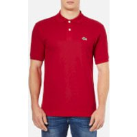 Lacoste Mens Basic Pique Short Sleeve Polo Shirt - Red - XL