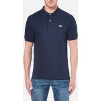 Lacoste Mens Basic Pique Short Sleeve Polo Shirt - Navy - 4/M - Blue