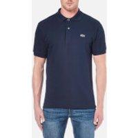 Lacoste Men's Basic Pique Short Sleeve Polo Shirt - Navy - 5/L - Blue