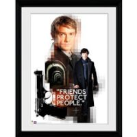 Sherlock Friends Protect - 16x12 Framed Photographic - Sherlock Gifts