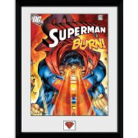 DC Comics Superman Burn - 16x12 Framed Photographic