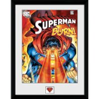 DC Comics Superman Burn - 16x12 Framed Photographic - Comics Gifts