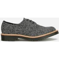 Dr. Martens Mens Made in England Crafted Lester 3-Eye Leather Shoes - Black Melange Silk - UK 8 - Black