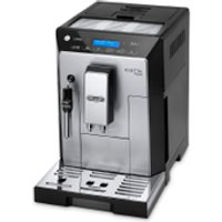 DeLonghi Eletta Plus Bean-to-Cup Coffee Machine - Silver/Black