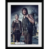 The Walking Dead Carol and Daryl - Framed Photographic - 16 x 12inch - Walking Gifts