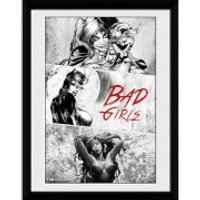 DC Comics Batman Comic Badgirls - Framed Photographic - 16 x 12inch - Batman Gifts