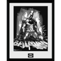 DC Comics Batman Comic Paint - Framed Photographic - 16 x 12inch - Batman Gifts