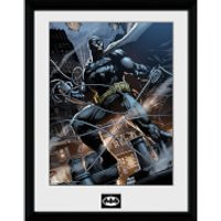 DC Comics Batman Comic Rope - Framed Photographic - 16 x 12inch - Batman Gifts