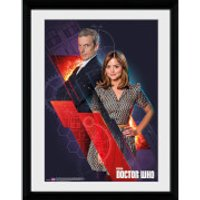 Doctor Who Clara and Doctor - 16x12 Framed Photographic - Doctor Who Gifts