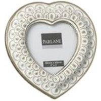 Parlane Heart Frame - White (80x80mm)