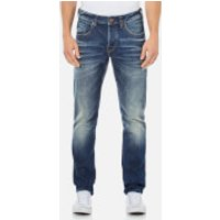 Scotch & Soda Mens Ralston Slim Fit Washed Denim Jeans - Admiral Blue - W34/L30 - Blue