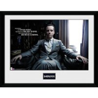 Sherlock Moriarty Chair - Framed Photographic - 16 Inch x 12 Inch - Sherlock Gifts