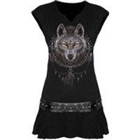 Spiral Spiral Women's WOLF DREAMS Stud Waist Mini Dress - Black - L - Black