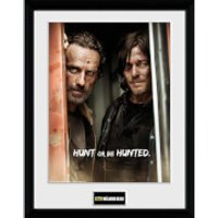 The Walking Dead Rick and Daryl - 16 Inch x 12 Inch Framed Photographic - Walking Gifts