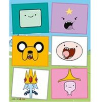Adventure Time Faces - Mini Poster - 40 x 50cm - Adventure Time Gifts