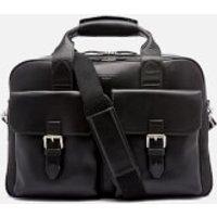 Aspinal of London Mens Harrison Overnight Business Bag - Black