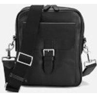 Aspinal of London Mens Harrison Small Messenger Bag - Black