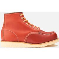 Red Wing Men's 6 Inch Moc Toe Leather Lace Up Boots - Oro Russet Portage - UK 8/US 9 - Burgundy/Red