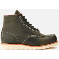 Red Wing Red Wing Men's 6 Inch Moc Toe Leather Lace Up Boots - Charcoal Rough and Tough - UK 11/US 12 - Grey