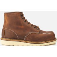 Red Wing Red Wing Men's 6 Inch Moc Toe Double Welt Leather Lace Up Boots - Copper Rough and Tough - UK 10/US 11 - Tan