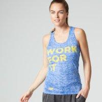 Myprotein Womens Burnout Vest, Blue - UK 14/US 10 - Blue
