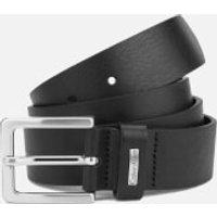 Calvin Klein Mens Mino Mino Leather Belt - Black - 100cm/XL