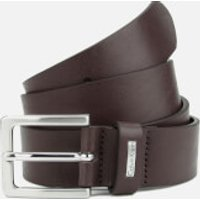 Calvin Klein Mens Mino Mino Leather Belt - Brown - 85cm/S - Brown